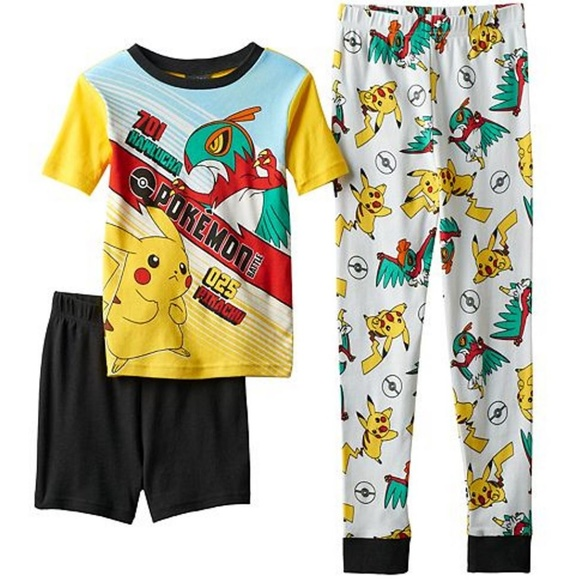 cde95f26f8 NEW Pokemon Pajama Set Pikachu Battle 3 Pc Boys 4. NWT